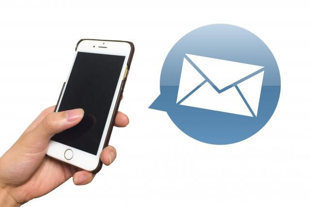 スマートフォンのメール操作の画像