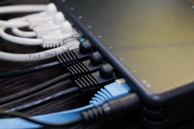 ネットワーク ケーブルの写真